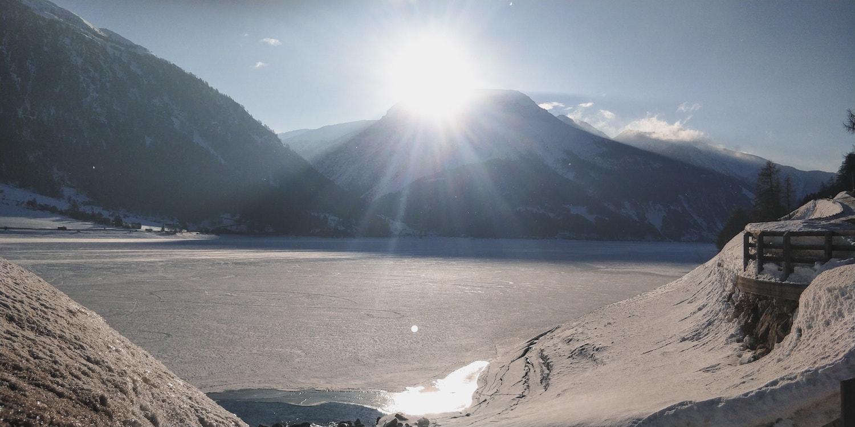 Sonnenaufgang am Reschensee