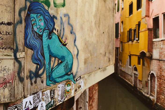 Kunst mitten in Venedig - Art by Bronik