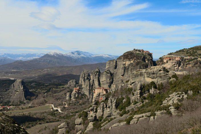 Der Blick von den Meteora Klöstern