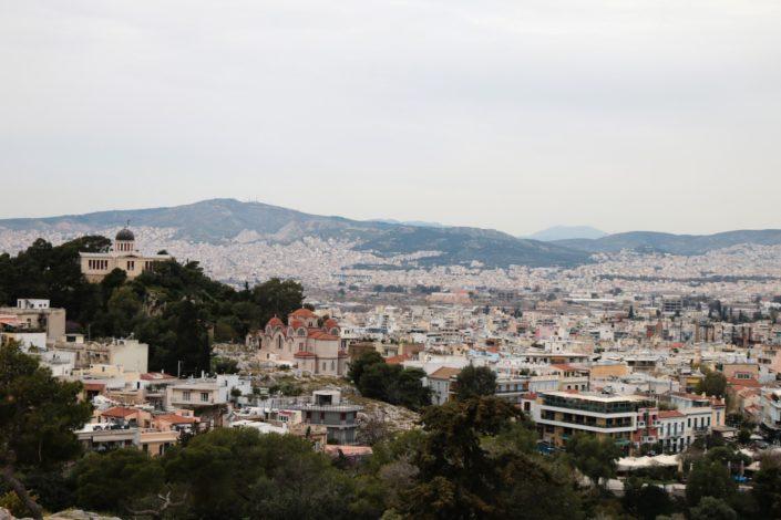 Der Blick über Athen