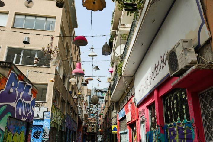Im Künstlerviertel von Athen