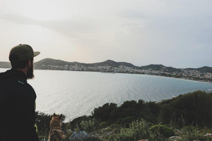 Blick auf Saronida