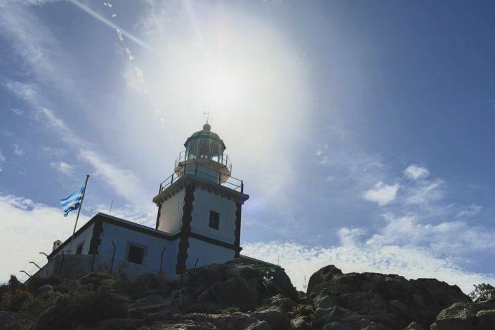 Der Leuchtturm von Santorini
