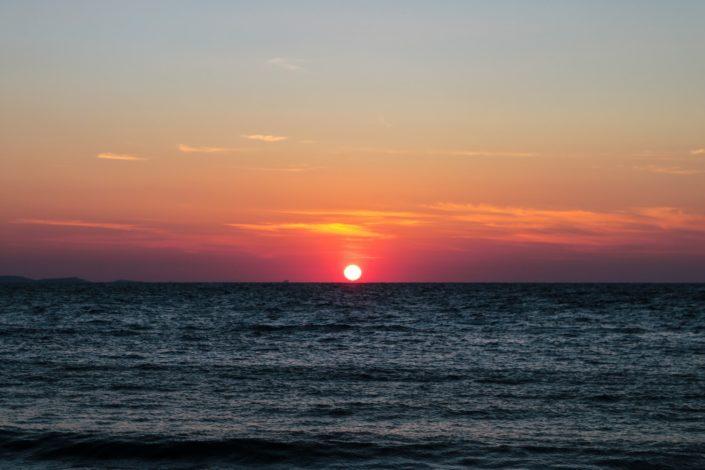 Und der unglaubliche Sonnenuntergang dort