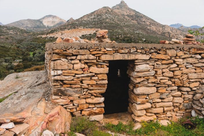 altes Haus bei den Ausgrabungsstätten von Flerio