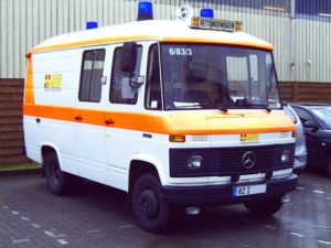 Mercedes-Benz 508 D Rettungswagen aus dem Jahr 1986