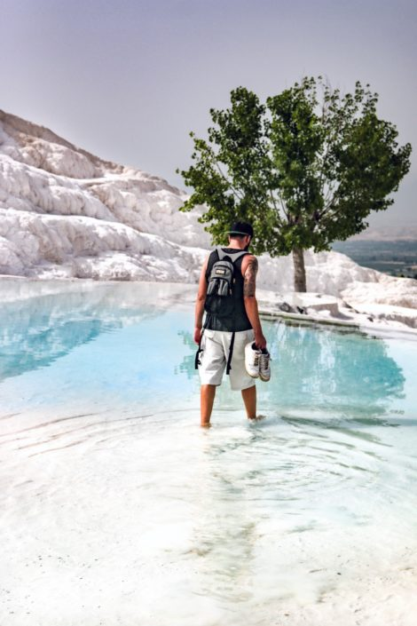 Andi in den Pools von Pamukkale
