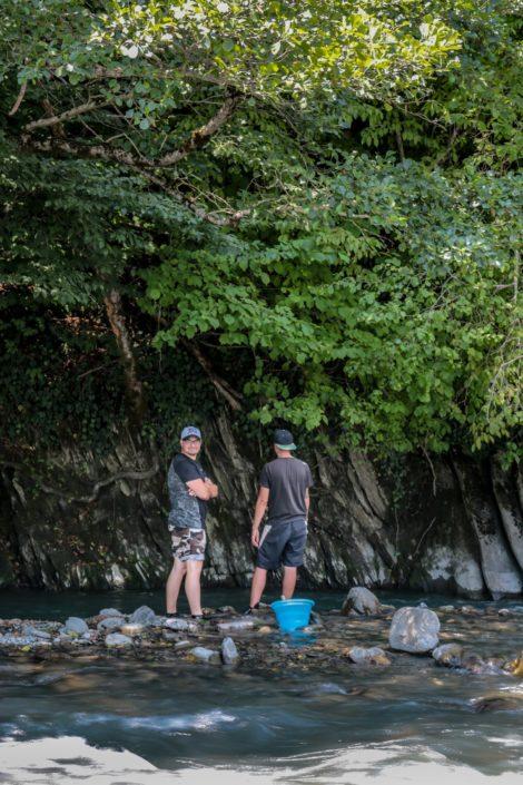 Fischen am Alasani River