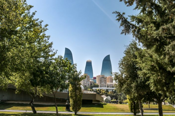 Flame Towers in Baku