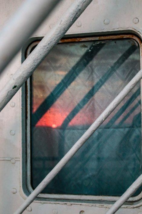Sonnenuntergang auf der Überfahrt