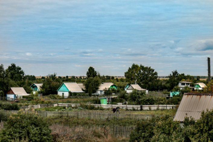 typisches Dorf im Norden Kasachstans