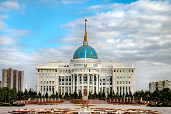 Der Akorda Presidential Palace - Arbeitsplatz des kasachischen Präsidenten