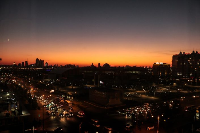 unser Ausblick im Ibis Astana