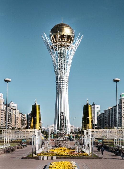 das Wahrzeichen der Stadt - Bajterek-Turm