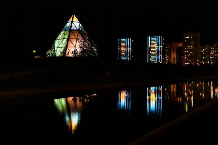Astana bei Nacht -