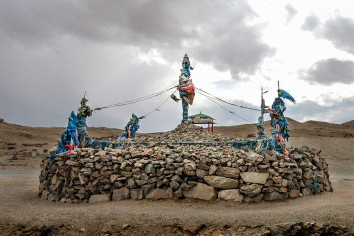 Schamanismus und Buddhismus haben sich ind er Mongolei vermischt