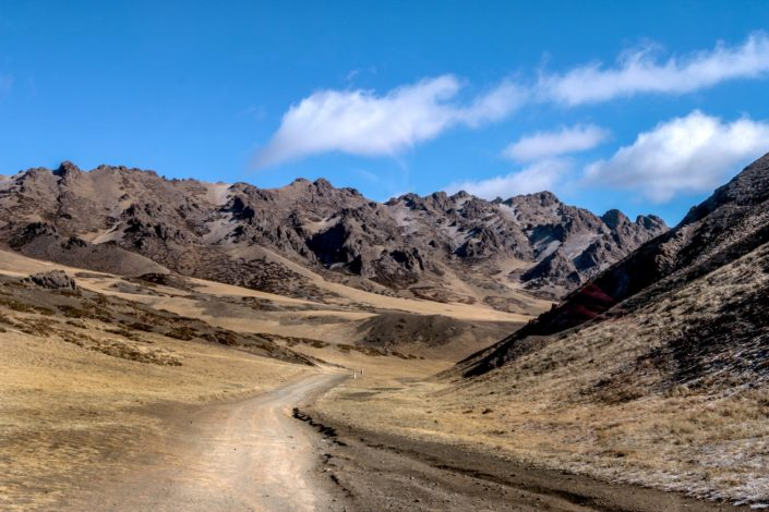 Straßen des Yolyn Am Canyon