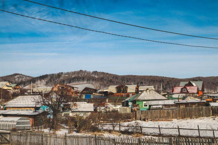 Siedlung am Baikalsee
