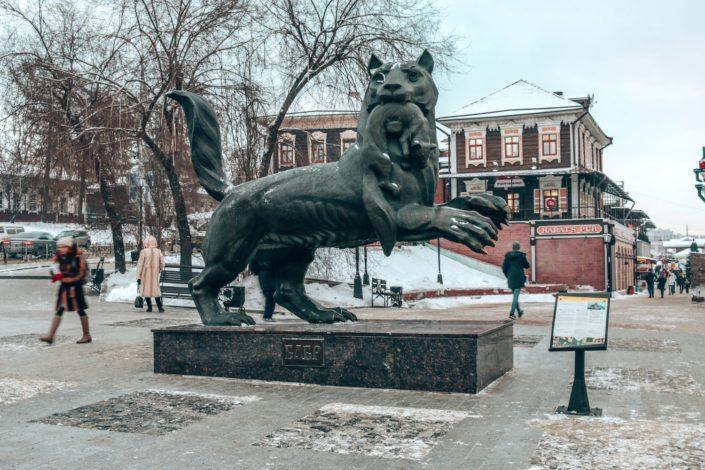 der 'Babr' - Symbol der Stadt Irkutsk