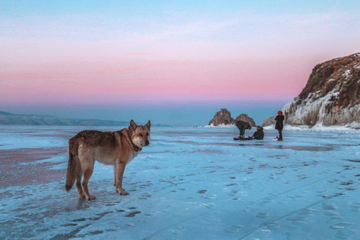 Abenddämmerung auf dem Baikal