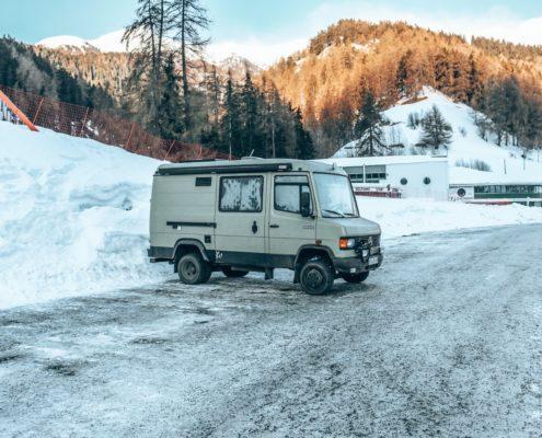 Reschenpass, Österreich, 19. Februar 2018
