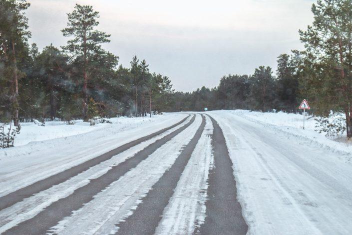 Die Straßenverhältnisse wurden schlechter und schlechter.