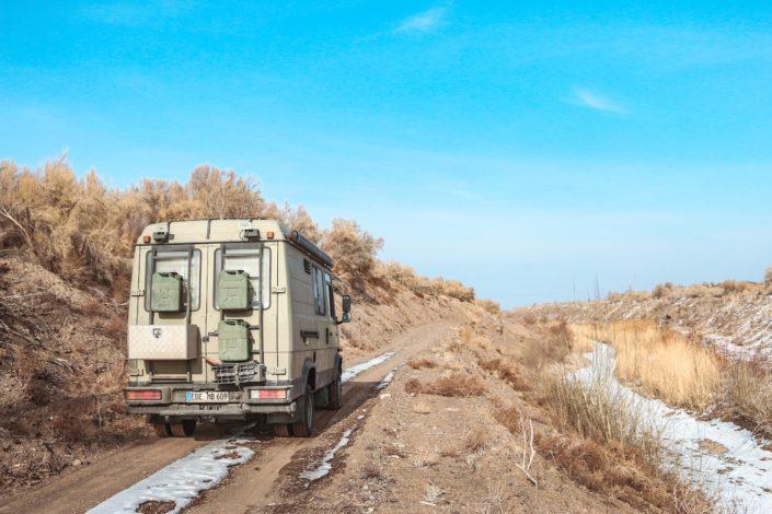 Auf dem Weg zurück nach Almaty