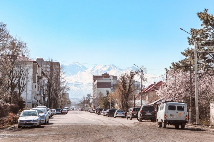Unser Parkplatz für fast 4 Wochen in Bishkek