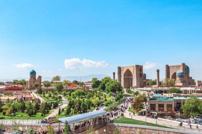 Blick von der Chidr-Moschee | Samarkand